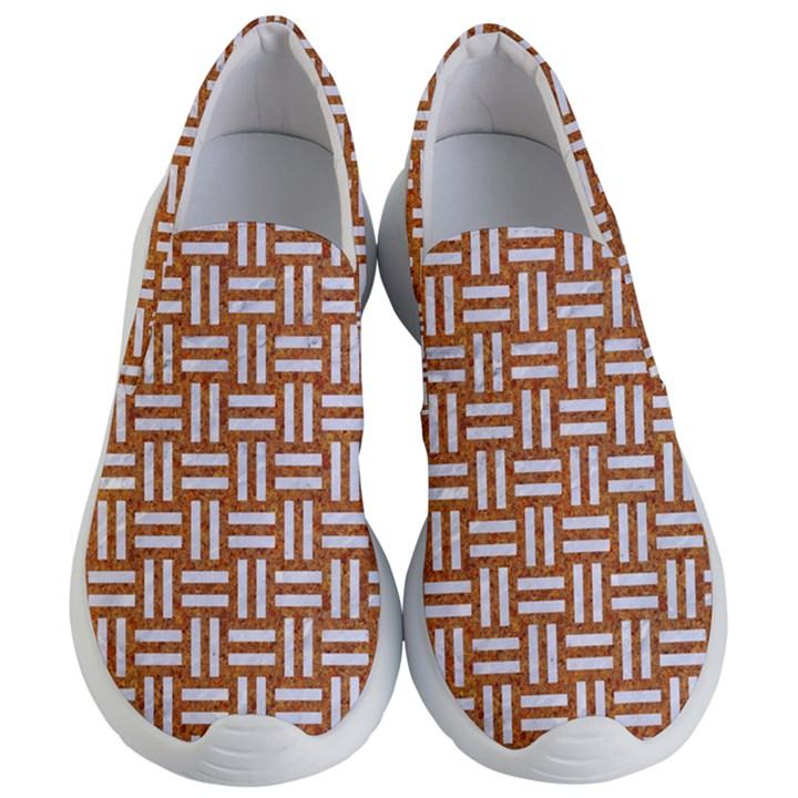 WOVEN1 WHITE MARBLE & RUSTED METAL Women s Lightweight Slip Ons