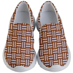 Woven1 White Marble & Rusted Metal Kid s Lightweight Slip Ons