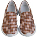 WOVEN1 WHITE MARBLE & RUSTED METAL Kid s Lightweight Slip Ons View1