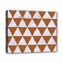 TRIANGLE3 WHITE MARBLE & RUSTED METAL Canvas 10  x 8  View1
