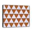 TRIANGLE3 WHITE MARBLE & RUSTED METAL Canvas 14  x 11  View1