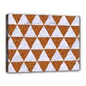 TRIANGLE3 WHITE MARBLE & RUSTED METAL Canvas 16  x 12  View1