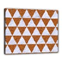 TRIANGLE3 WHITE MARBLE & RUSTED METAL Canvas 20  x 16  View1