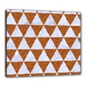 TRIANGLE3 WHITE MARBLE & RUSTED METAL Canvas 24  x 20  View1