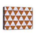 TRIANGLE3 WHITE MARBLE & RUSTED METAL Deluxe Canvas 16  x 12   View1