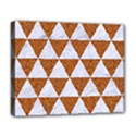 TRIANGLE3 WHITE MARBLE & RUSTED METAL Deluxe Canvas 20  x 16   View1