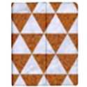 TRIANGLE3 WHITE MARBLE & RUSTED METAL Apple iPad 3/4 Flip Case View1