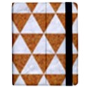 TRIANGLE3 WHITE MARBLE & RUSTED METAL Apple iPad 3/4 Flip Case View2