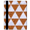 TRIANGLE3 WHITE MARBLE & RUSTED METAL Apple iPad 3/4 Flip Case View3