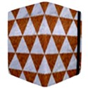 TRIANGLE3 WHITE MARBLE & RUSTED METAL Apple iPad 3/4 Flip Case View4