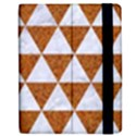 TRIANGLE3 WHITE MARBLE & RUSTED METAL Apple iPad Mini Flip Case View2