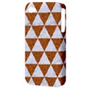 TRIANGLE3 WHITE MARBLE & RUSTED METAL Apple iPhone 4/4S Hardshell Case (PC+Silicone) View3