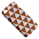 TRIANGLE3 WHITE MARBLE & RUSTED METAL Apple iPhone 4/4S Hardshell Case (PC+Silicone) View5
