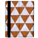 TRIANGLE3 WHITE MARBLE & RUSTED METAL Samsung Galaxy Tab 10.1  P7500 Flip Case View2