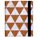 TRIANGLE3 WHITE MARBLE & RUSTED METAL Samsung Galaxy Tab 10.1  P7500 Flip Case View3