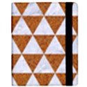 TRIANGLE3 WHITE MARBLE & RUSTED METAL Samsung Galaxy Tab 8.9  P7300 Flip Case View2