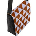 TRIANGLE3 WHITE MARBLE & RUSTED METAL Flap Messenger Bag (L)  View2