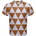 TRIANGLE3 WHITE MARBLE & RUSTED METAL Men s Cotton Tee View1
