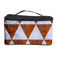 Triangle3 White Marble & Rusted Metal Cosmetic Storage Case