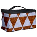 TRIANGLE3 WHITE MARBLE & RUSTED METAL Cosmetic Storage Case View2