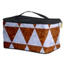 TRIANGLE3 WHITE MARBLE & RUSTED METAL Cosmetic Storage Case View3