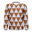 TRIANGLE3 WHITE MARBLE & RUSTED METAL Men s Long Sleeve Tee View1