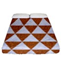 TRIANGLE3 WHITE MARBLE & RUSTED METAL Fitted Sheet (Queen Size) View1