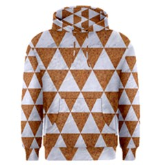 Triangle3 White Marble & Rusted Metal Men s Pullover Hoodie