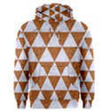 TRIANGLE3 WHITE MARBLE & RUSTED METAL Men s Pullover Hoodie View1
