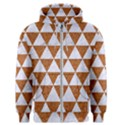 TRIANGLE3 WHITE MARBLE & RUSTED METAL Men s Zipper Hoodie View1
