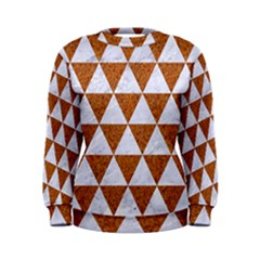 Triangle3 White Marble & Rusted Metal Women s Sweatshirt
