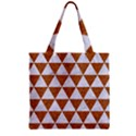 TRIANGLE3 WHITE MARBLE & RUSTED METAL Zipper Grocery Tote Bag View2