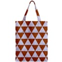 TRIANGLE3 WHITE MARBLE & RUSTED METAL Zipper Classic Tote Bag View1