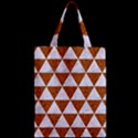TRIANGLE3 WHITE MARBLE & RUSTED METAL Zipper Classic Tote Bag View2