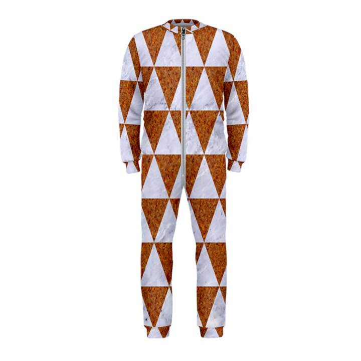 TRIANGLE3 WHITE MARBLE & RUSTED METAL OnePiece Jumpsuit (Kids)