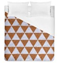 TRIANGLE3 WHITE MARBLE & RUSTED METAL Duvet Cover (Queen Size) View1