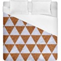 TRIANGLE3 WHITE MARBLE & RUSTED METAL Duvet Cover (King Size) View1