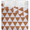TRIANGLE3 WHITE MARBLE & RUSTED METAL Duvet Cover Double Side (King Size) View1