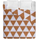 TRIANGLE3 WHITE MARBLE & RUSTED METAL Duvet Cover Double Side (California King Size) View1