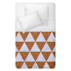 Triangle3 White Marble & Rusted Metal Duvet Cover (single Size)