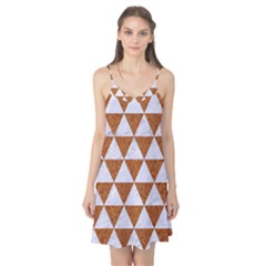 Triangle3 White Marble & Rusted Metal Camis Nightgown