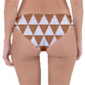 TRIANGLE3 WHITE MARBLE & RUSTED METAL Reversible Hipster Bikini Bottoms View2