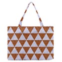 TRIANGLE3 WHITE MARBLE & RUSTED METAL Zipper Medium Tote Bag View1