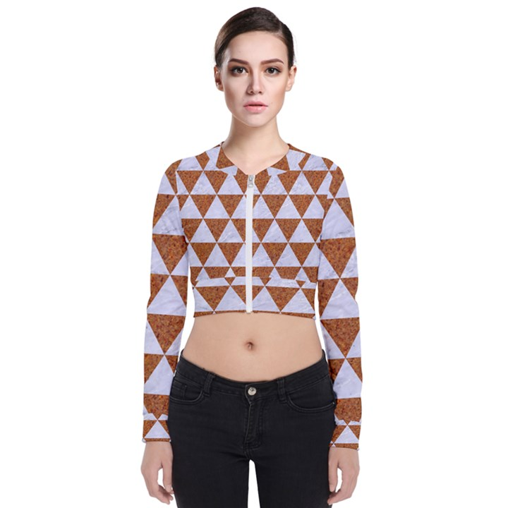 TRIANGLE3 WHITE MARBLE & RUSTED METAL Bomber Jacket