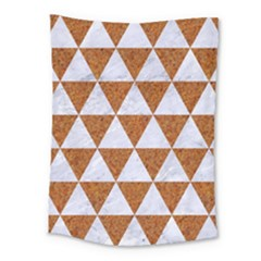 Triangle3 White Marble & Rusted Metal Medium Tapestry