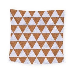 Triangle3 White Marble & Rusted Metal Square Tapestry (small)