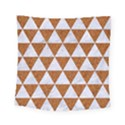 TRIANGLE3 WHITE MARBLE & RUSTED METAL Square Tapestry (Small) View1