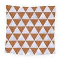TRIANGLE3 WHITE MARBLE & RUSTED METAL Square Tapestry (Large) View1