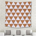 TRIANGLE3 WHITE MARBLE & RUSTED METAL Square Tapestry (Large) View2
