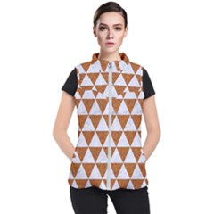 Triangle3 White Marble & Rusted Metal Women s Puffer Vest